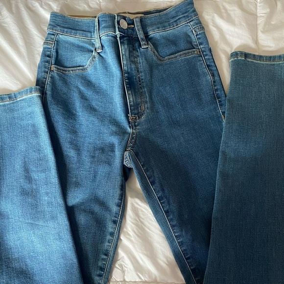 Garage high waisted skinny jeans